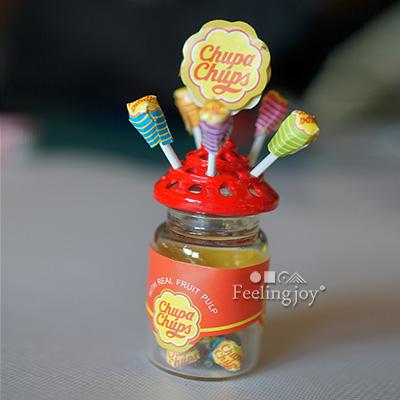 1:12 BJD娃娃配件模型 dollhouse迷你场景食玩 瓶装棒棒糖整套