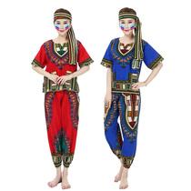 費納約非洲鼓舞蹈演出服泰國東南亞風情印花表演服裝民族風服飾
