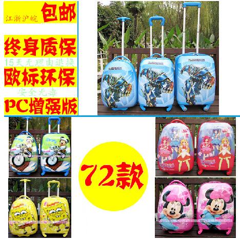 Дисней пакет электронной почты ABS PC тележка мультфильм детей футляр для мужчин и женщин, литые колеса 18-дюймовые 16 дюймов