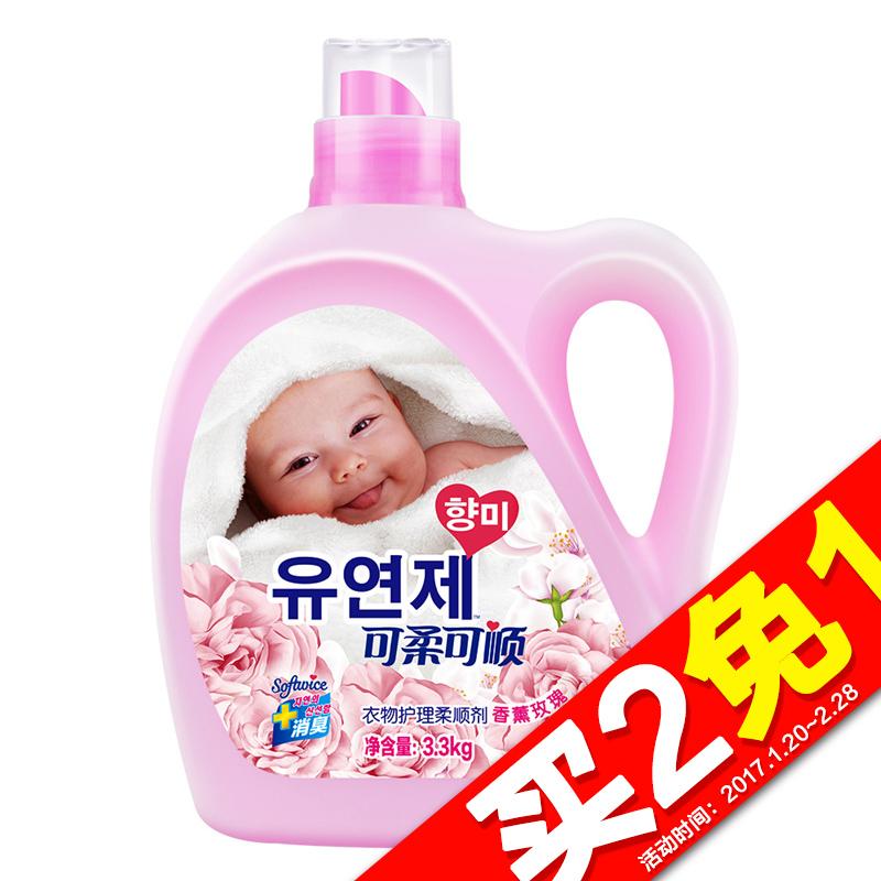~天貓超市~可柔可順衣物護理洗衣柔順劑香薰玫瑰 3.3kg 新升級