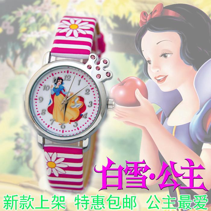 Смотреть дети девушка девушки водонепроницаемые кварцевые часы подлинный первичный мультфильм детей снег белый стол