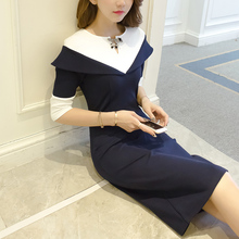 Early autumn knitted dress