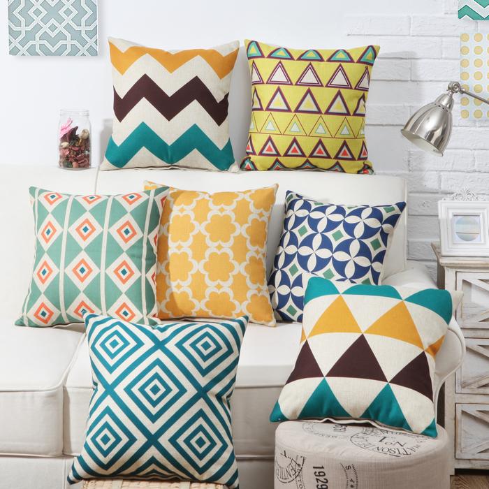 伊汐寢飾簡約 幾何風格英倫抽象抱枕客廳沙發靠墊靠枕靠背