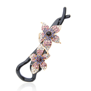 Ya na banana clips rhinestone hair accessories hair clip Korea eight clip ponytail holder shaft gripping clamp bride jewelry
