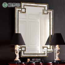 Release Dream garden neoclassical mirror decorative mirror Xuan Guan mirror cosmetic mirror wall decoration hanging mirror bathroom mirror M0445