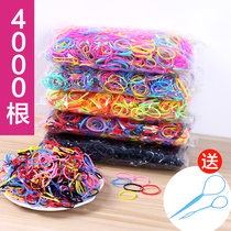 Rubber band Wholesale disposable sinew hair rope black hair ring elastic children with haired adult shampoo jewelry
