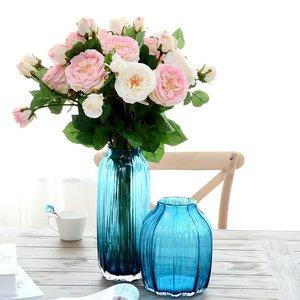 南十字星 透明玻璃花瓶北欧 大号水培客厅插花装饰摆件简约 琉光