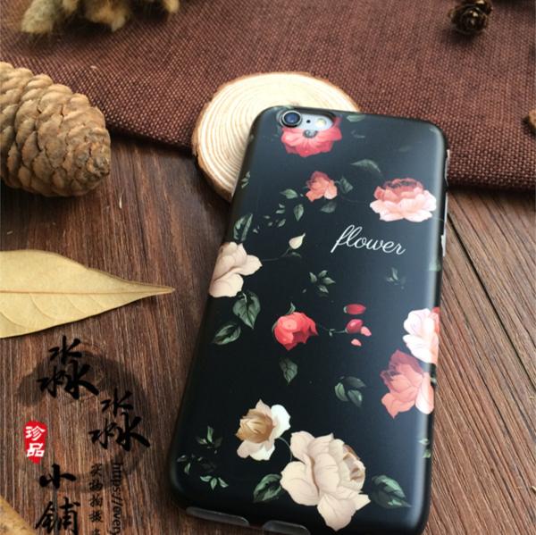简约文艺清新侧面图案全包手机壳  iphone6/6S plus 多款花型可选