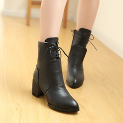Martin boots women's winter new pointy boots, side zipper boots in rough with Joker Korean version with short tube boots