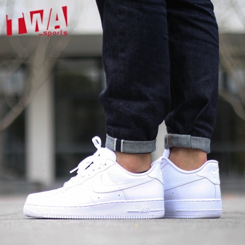 NIKE AIR FORCE 1 '07 AF1全白男女休闲板鞋 315122-111