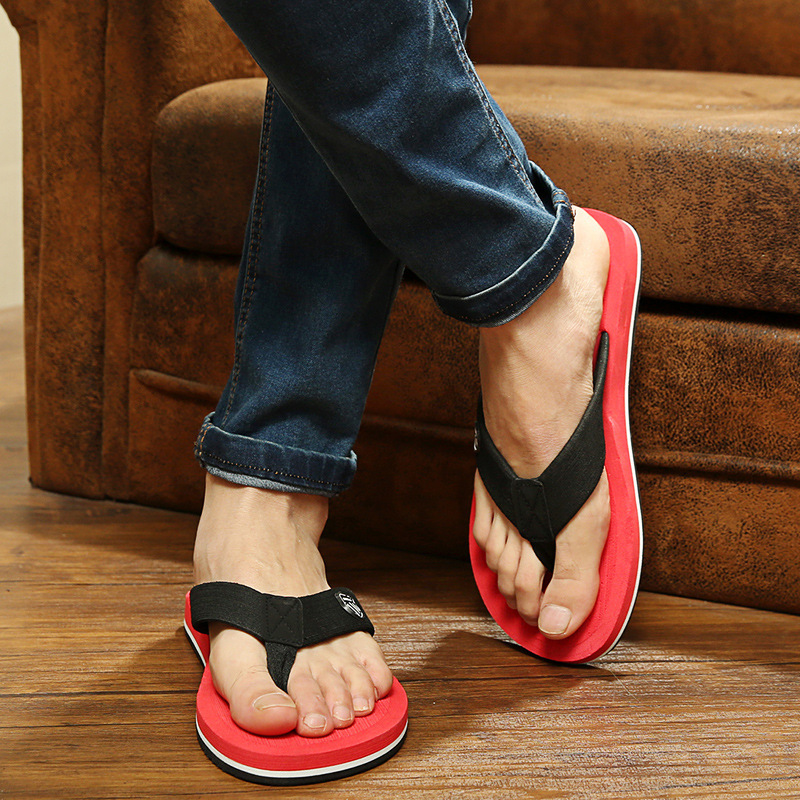 Postal oversize 45 46 47 48 mens thick herringbone slippers flat bottomed beach slippers foreign trade slippers