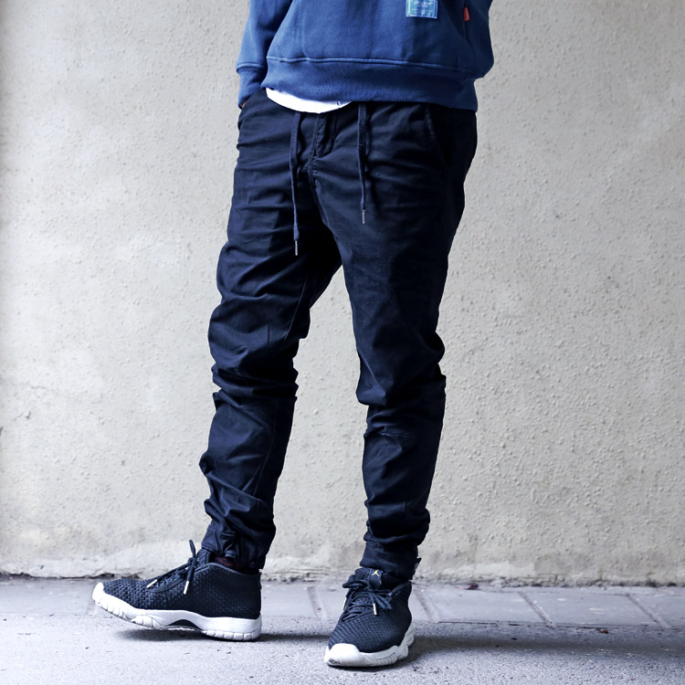 Hidden button Leggings mens jogger pants in spring and summer