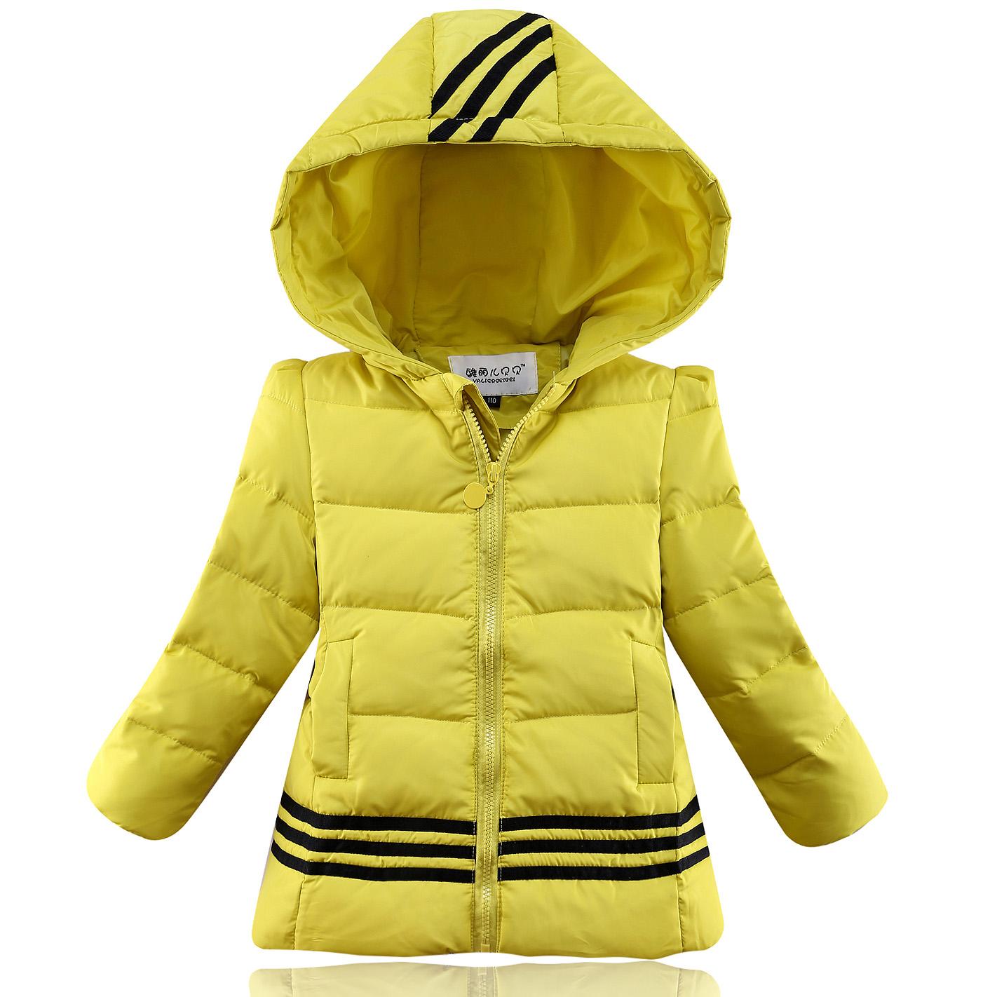 2014 новых детей маленьких девочек длинные пальто вниз куртка женщин подлинные корейской версии