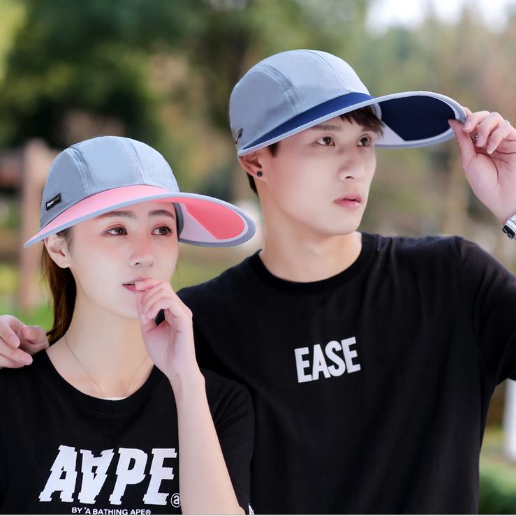 女士防紫外線帽子戶外男女情侶遮陽帽防曬太陽帽大簷帽 帽