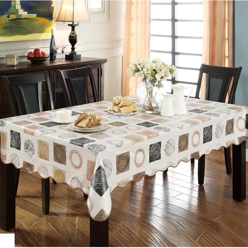 田园餐桌布防水防油防烫免洗桌布PVC塑料台布餐厅长方形茶几桌垫