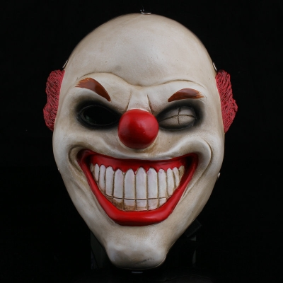 Collector's Edition Game Payday 2 Red Nose Clown Resin Mask Halloween Mask Payday2 Series Mask