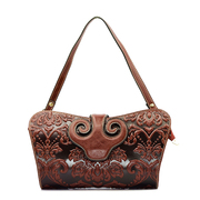Beautiful Dragon original header layer of leather handbags in leather hand Chinese Ruyi embossed bags national air bag
