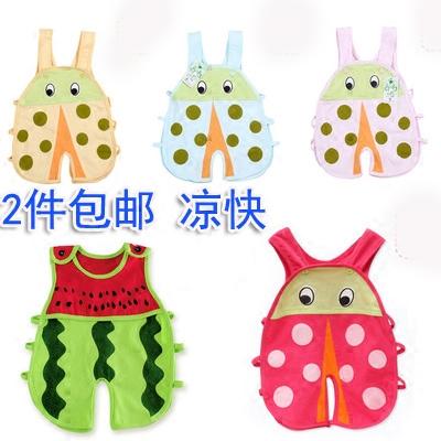 婴儿夏季薄款造型衣服 男女宝宝开档连体裤 幼童琵琶衫水果动物装
