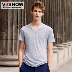 Viishow new men's short sleeve t shirt summer Europe and slim short t fashion clean permanent press shirt
