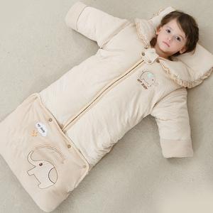 婴儿睡袋春秋冬款加厚新生儿童防踢被冬季宝宝睡袋婴幼儿加长睡袋