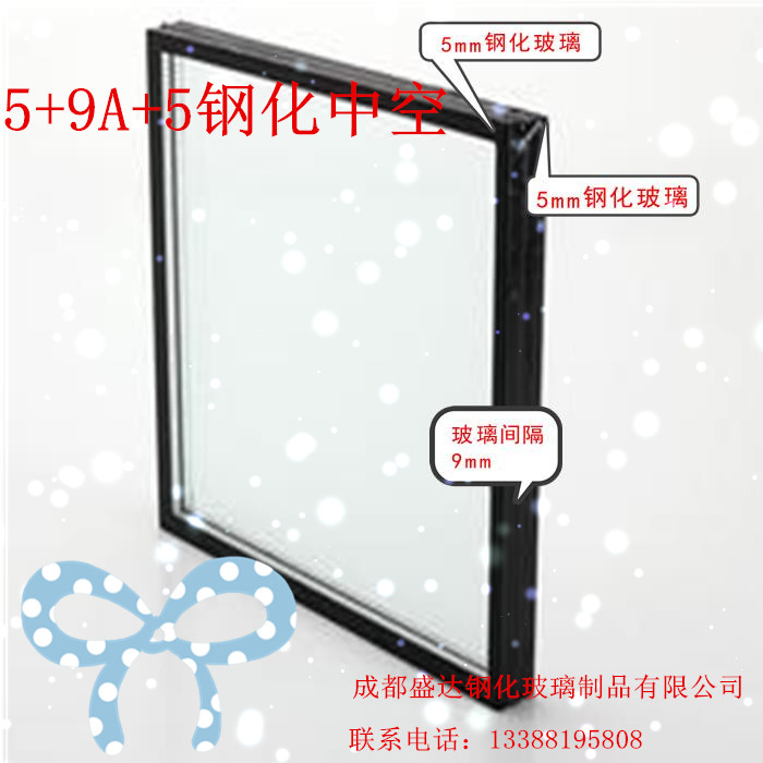 5+9A+5 двойной сталь полый стекло