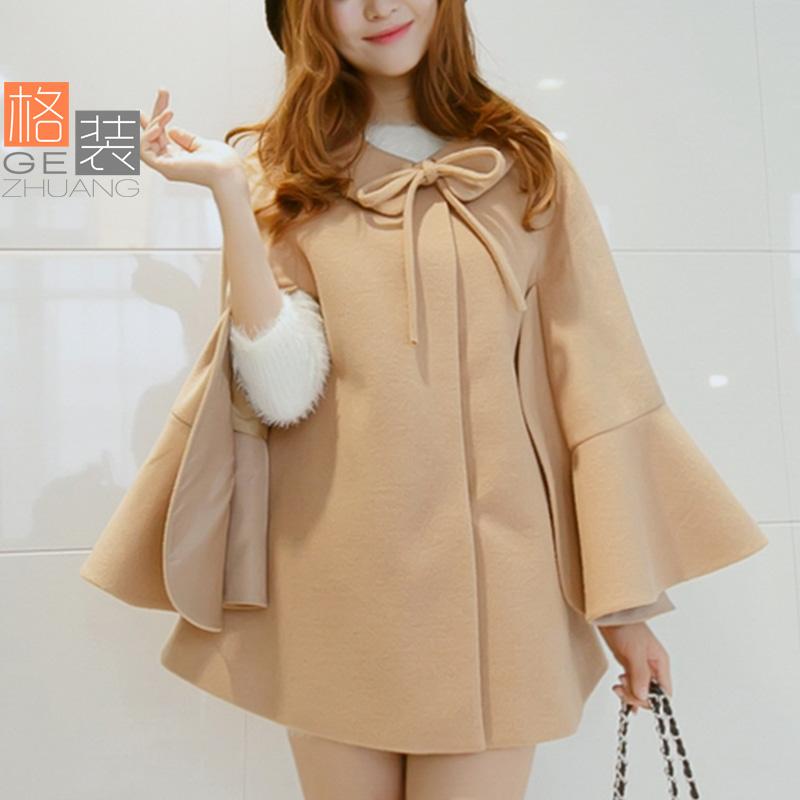к 2015 году весна женщин новый тонкий взгляд тонкий в корейской версии мыса пальто шерстяные ткани пальто куртки женщин