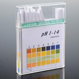 日本ASONE 盒装PH广泛试纸1-14 化妆品鱼缸水质尿液酸碱度检测纸