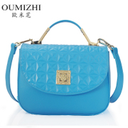 Ou Mizhi 2015 new leather bag for fall/winter fashion rhombic pattern embossed handbag shoulder diagonal female package