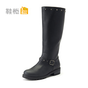 Shoebox new leisure shoe 2014 Winter boots thick waterproof high women's boots 1114505032