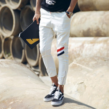 Little white gold chrome 2015 summer cultivate one's morality leisure trousers harlan eight