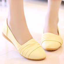 Han edition 2015 autumn new flat shoes round head soft goose bottom shoes casual shoes flat single female students