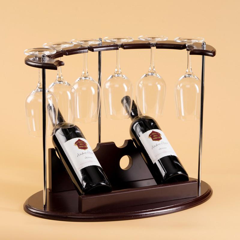 紅酒杯架倒掛高腳杯架懸掛 紅酒架擺件歐式木質 葡萄酒展示架