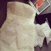 【小Q家】定制婚纱两件套奢华蕾丝修身显瘦包臀鱼尾绑带拖尾2018