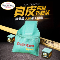 Full-hand Dave Coutts cues four-color leather pink pocket clip imported snooker billiard rod Qiao Bag