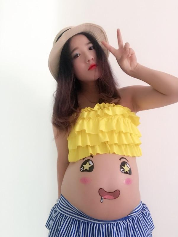 [奇葩买家秀]孕妇贴拍照大肚皮贴画怀孕拍照纪念写真买家秀