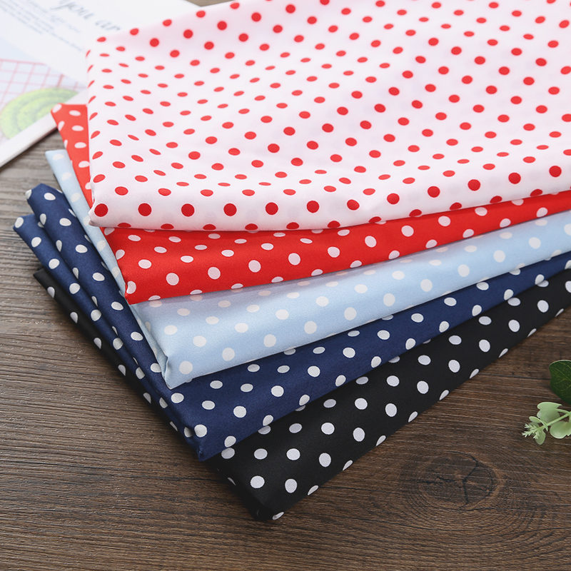 Elastic wave point chiffon fabric impermeable geometric pattern dress shirt top garment 6mm small round point fabric