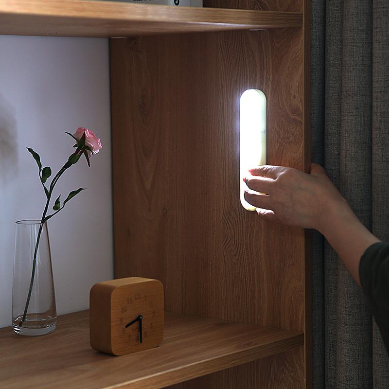 手压式橱柜灯LED柜底灯厨房吊柜衣柜灯无线楼道走廊玄关粘贴灯条