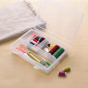 日本进口家用针线盒缝纫收纳盒十字绣手缝 工具整理箱孑携带方便