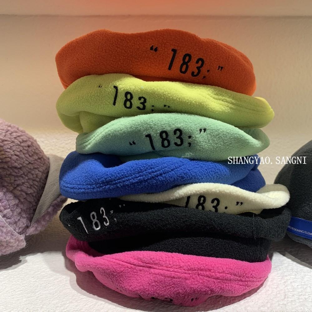 Korean childrens hat chic bright woolen tweed autumn winter port style Beret soft avocado letter cap 143