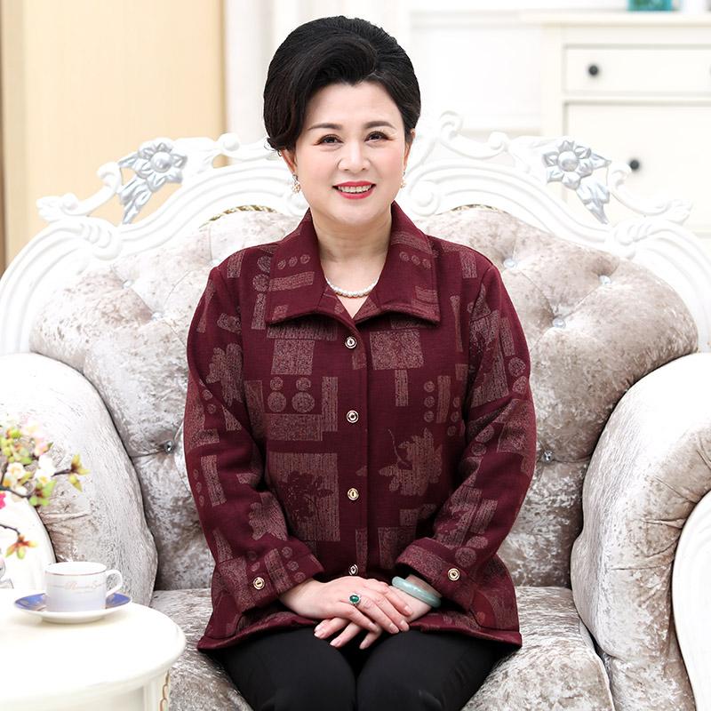 60岁胖子妈妈装春秋季传统特大码女式衬衫新款中老年女装单衣服饰