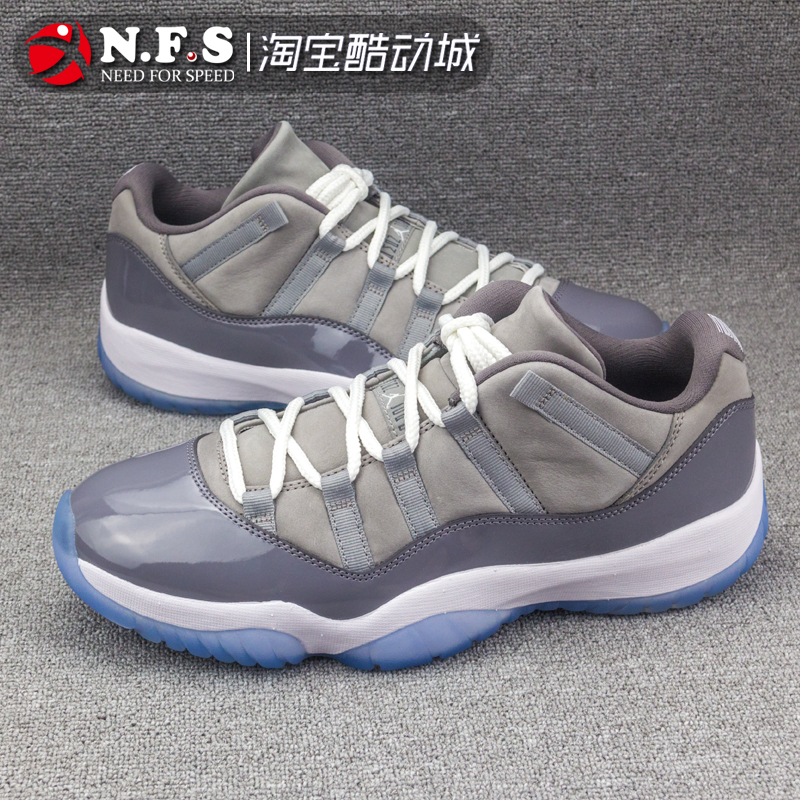NFS体育 AIRJORDAN 11 Low Cool Grey AJ11 低帮 酷灰 528895-003