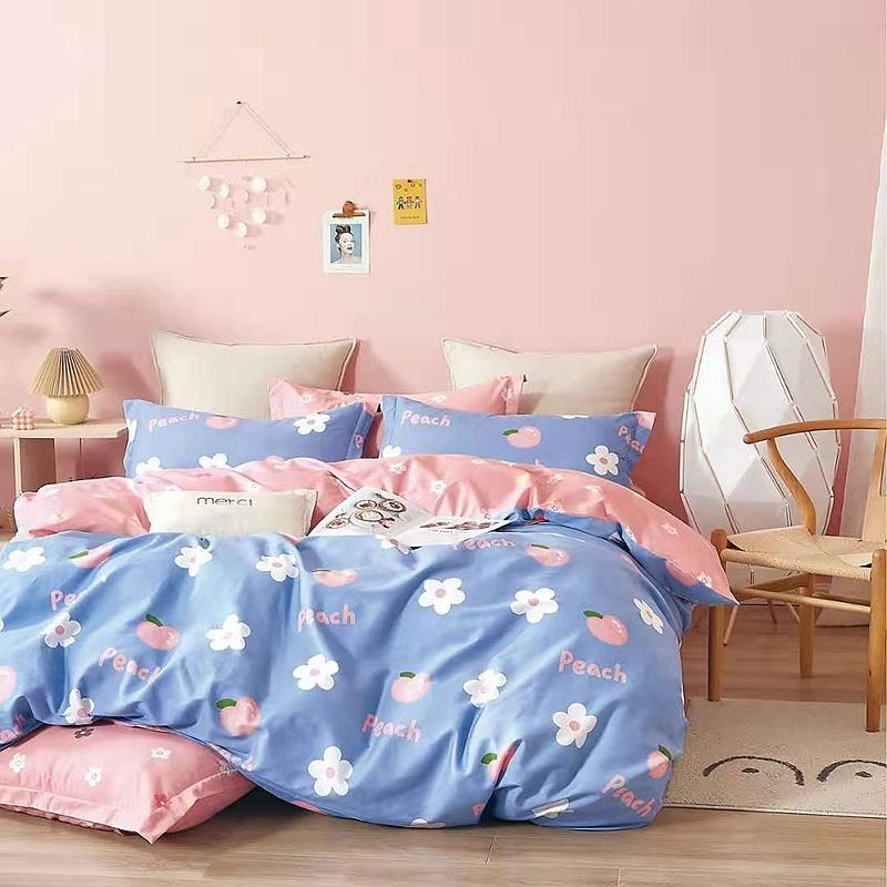 纯棉四件套1.8m床上用品双人全棉被套床单学生宿舍床上用品三件套