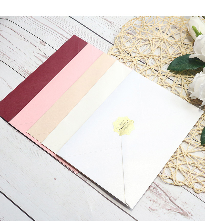 120g pearl paper, special paper, kraft paper, colored cardboard, western style envelope, invitation card set, 50 / pack