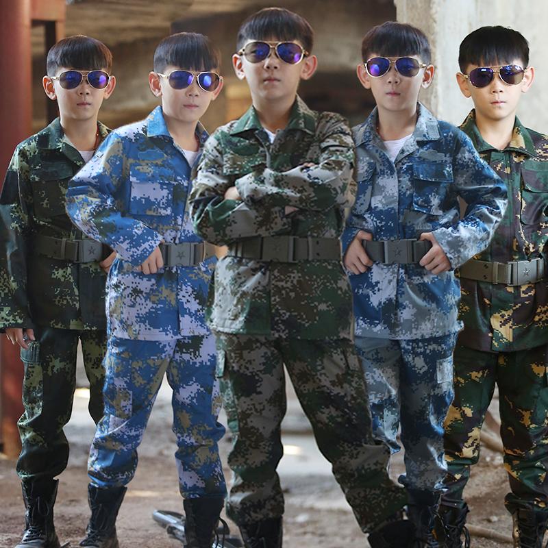 儿童小军装野战特种兵男女孩夏令营军训服战狼猎人正品迷彩服套装
