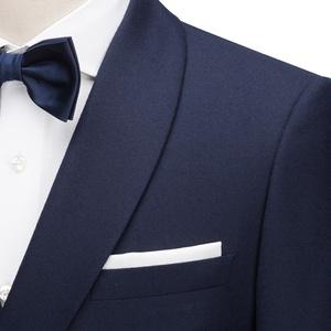 汉尼HANY秋新品西装男士商务正装西服套装双排扣青果领羊毛西装