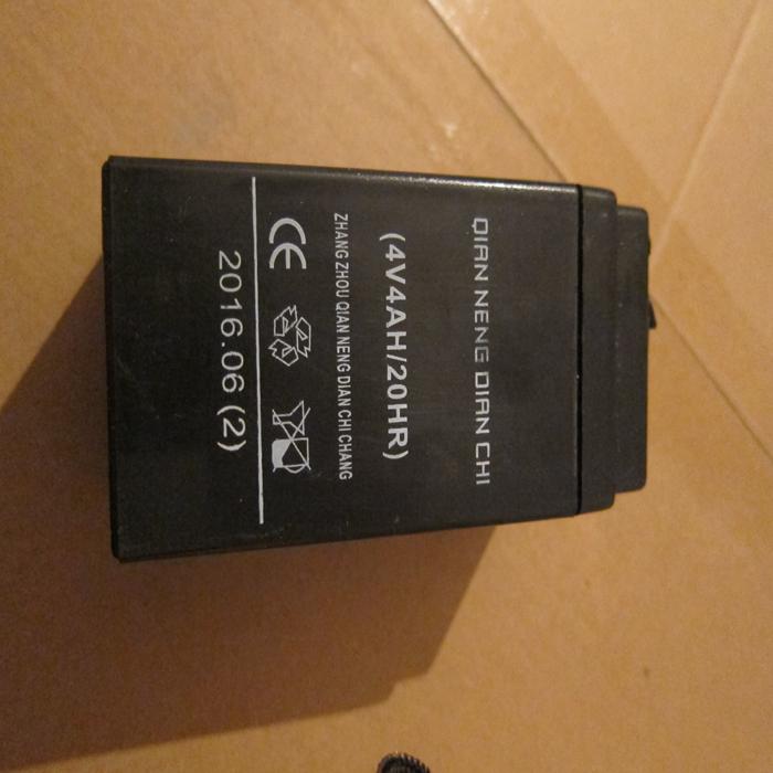 正品4v4ah台称4v电池电子秤蓄电池4V4AH电瓶电子称电池券后19.80元