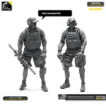 钢铁苍穹 YUFAN MODEL LOO14 1/35 美国海豹突击队树脂兵人
