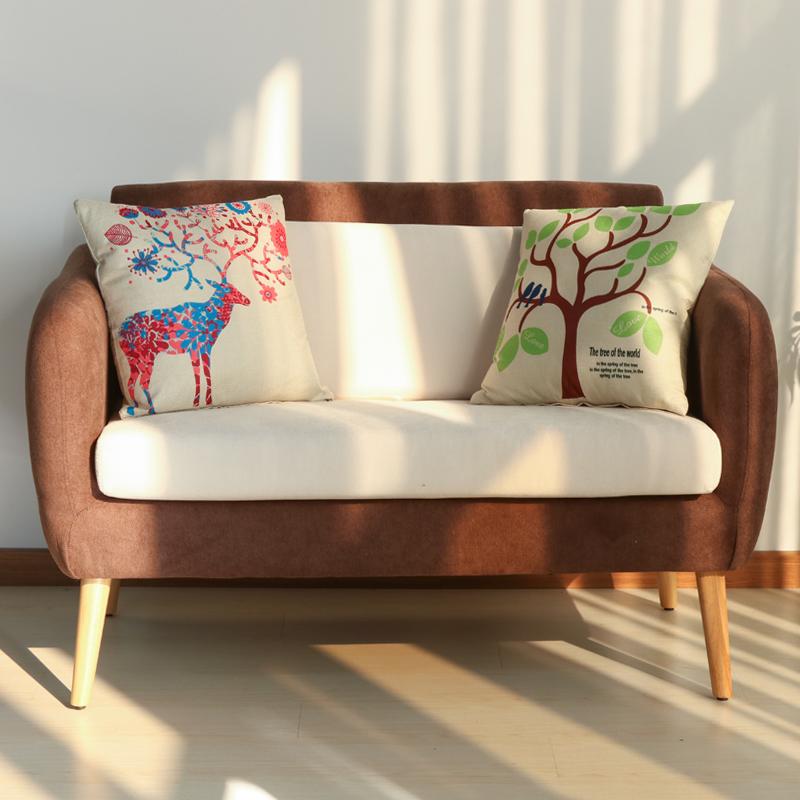 佳为家新品日式布艺沙发单人双人酒店咖啡厅卡座现代简约沙发椅子