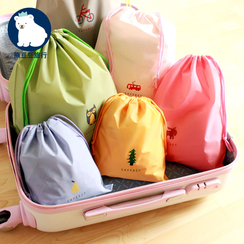 Cartoon outdoor products travel storage bag set wash bag make up bag female and male travel products wash bag