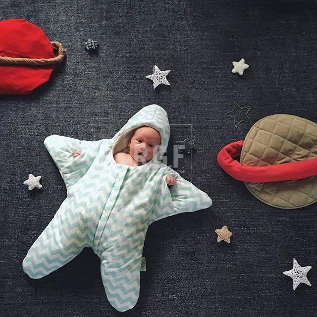 В испании импорт Baby Bites акула морская звезда хлопок ребенок новорожденных спальный мешок держаться противо удар находятся сейчас в надичии